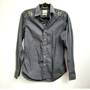 Lucky Brand Embroidered Western button down